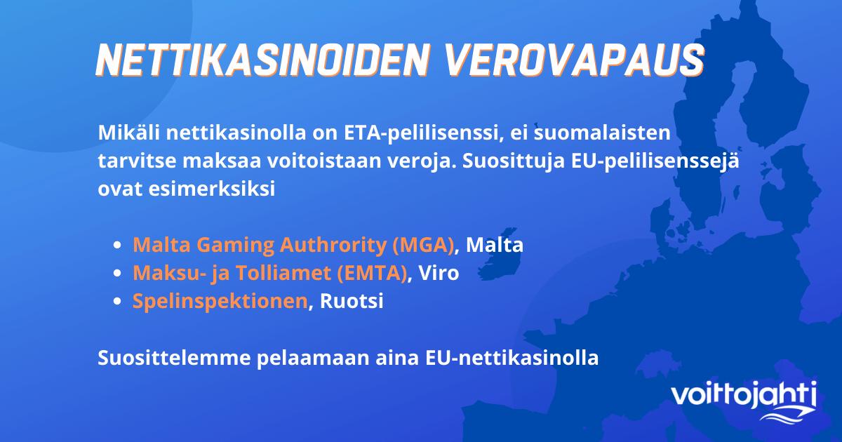 Verovapaat EU nettikasinot
