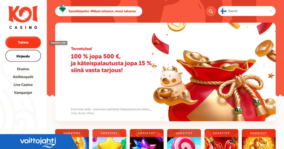 Koi Casino minimitalletus | Voittojahti.com