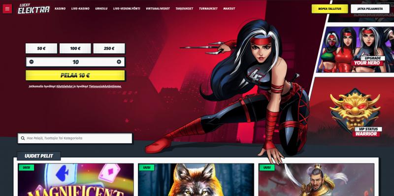 Lucky Elektra minimitalletus nettikasino | Voittojahti.com